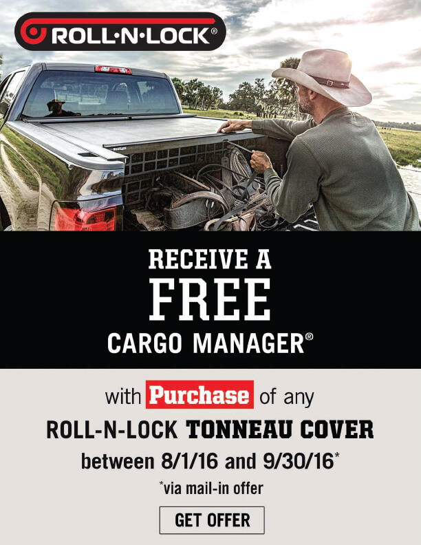 Roll-N-Lock Cargo Manager Rebate