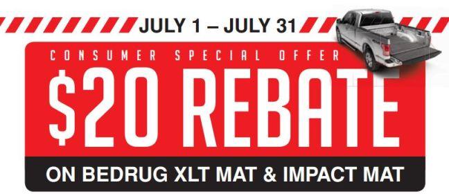 BedRug: $20 Rebate on XLT or Impact Mat Purchase