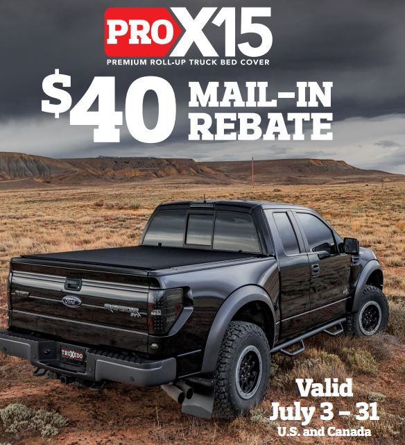 TruXedo: $40 Rebate On Pro X15 Truck Bed Cover Purchase