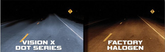 Vision X DOT Series Halogen Headlight Replacement Bulbs