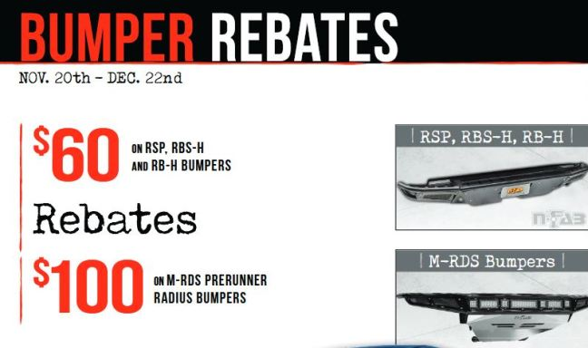N-FAB Bumper Rebates