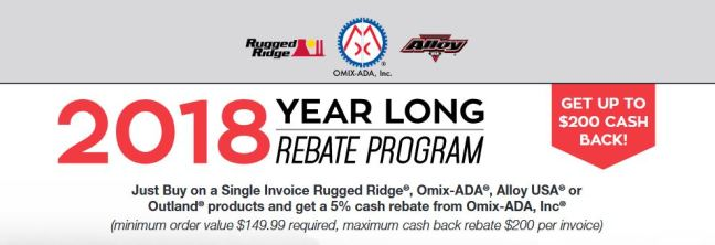 Omix-ADA: Year-Long Rebate Program
