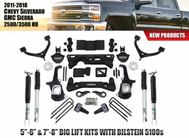 ReadyLIFT Big Lift Kits with Bilstein 5100 Shocks for GM 2500 3500 HD