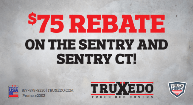 TruXedo: Get $75 Back on Sentry and Sentry CT Truck Bed Covers