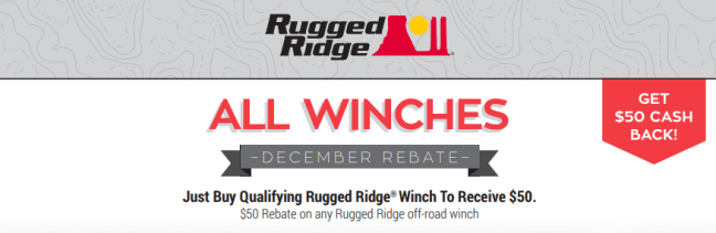Rugged Ridge $50 Back on Winches