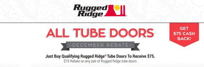 Rugged Ridge $75 Back on Tube Doors