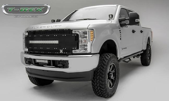 T-Rex Grilles (6315491): Torch-AL Main Replacement Grille for '17-'19 Ford Super Duty