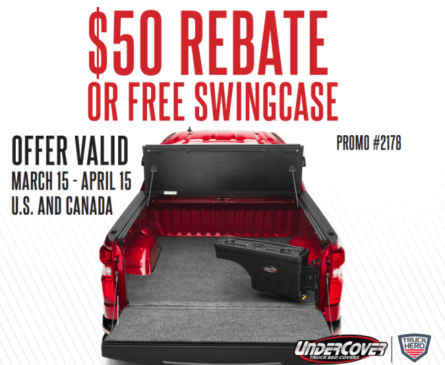 UnderCover: Get a Free SwingCase or $50 Back with Flex Truck Bed Cover Purchase