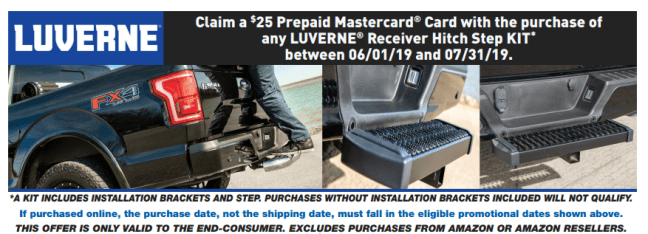 LUVERNE: Get $25 Back on Receiver Hitch Steps