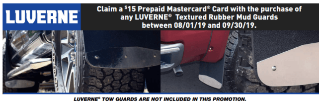 LUVERNE: Get $15 Back on Textured Rubber Mud Guards