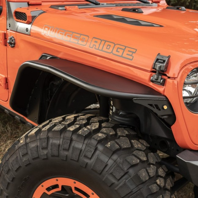 Rugged Ridge HD Steel Tube Fenders for Jeep Wrangler JL 11615.75