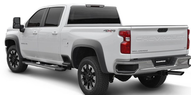 Bushwacker (40986-02): Extend-A-Fender Set for 2020 Chevrolet Silverado 2500/3500 HD