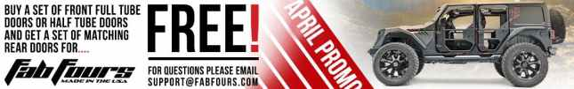 Fab Fours Tube Door Promotion   Buy 2 get 2 free!