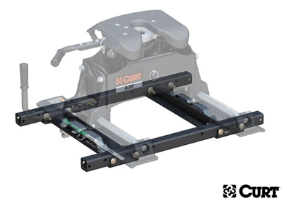CURT (16027): OEM Puck System 5th Wheel Adaptor with Standard Rails for `20 Chevy/GMC Silverado/Sierra HD