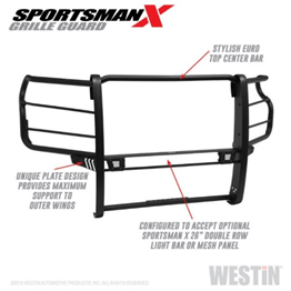 WESTiN (40-33995) Sportsman X Grille Guard for `20 Chevrolet 2500 HD