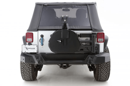 Rampage Products (9950919) TrailGuard Series Tire Carrier for `07-`18 Jeep Wrangler JK/Unlimited