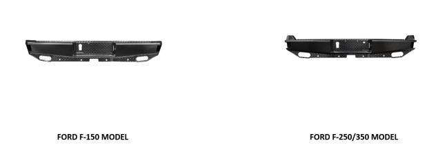 WESTiN (58-341105 — 58-341195): HDX Bandit Series Rear Bumper