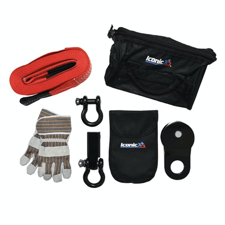Iconic Accessories™ (441-82130): Off-Road Winch Recovery Kit