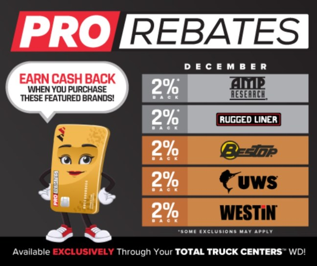 PRO Rebates: December Featured Vendors