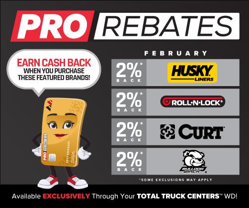 PRO Rebates: February Featured Brands
