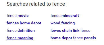 Related to Fence