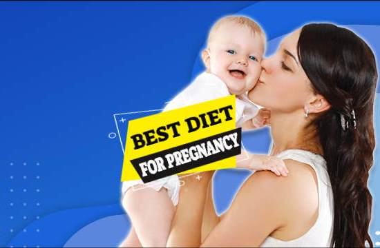 a mother and baby illustrates article about the best diet for pregnancy.