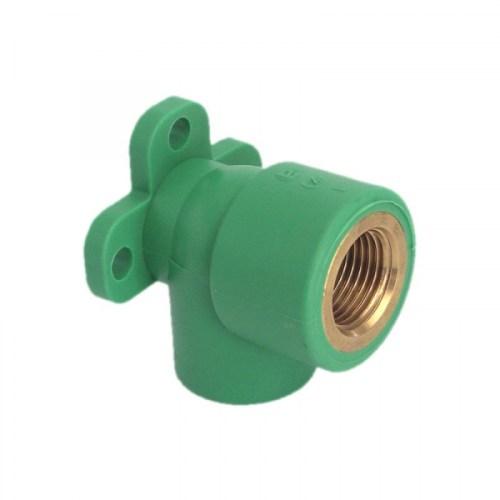 Cot PPR verde RandomKIT Valrom cu prindere perete 90° D.20×1/2″FI PN25 SDR6