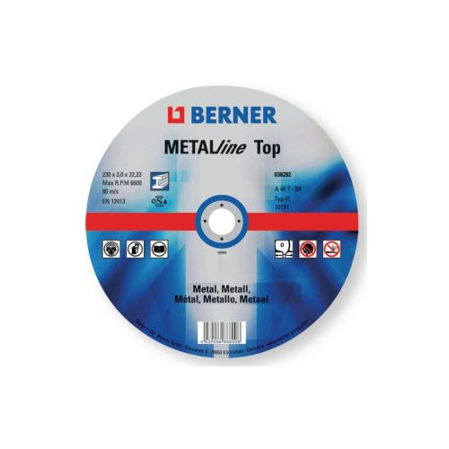 Disc de taiat pentru metal BERNER METALline 125 x 1.6 x 22.23 mm