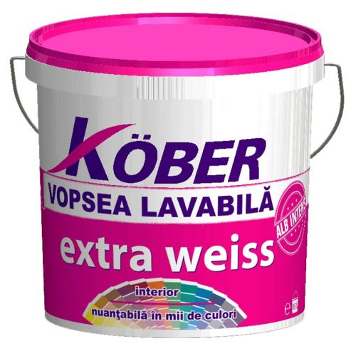 Vopsea lavabila Kober Extra Weiss 4 L
