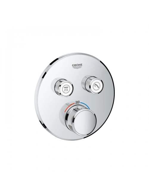 Unitate de control cu termostat pentru instalare încastrată cu 2 ieșiri Grohtherm SmartControl