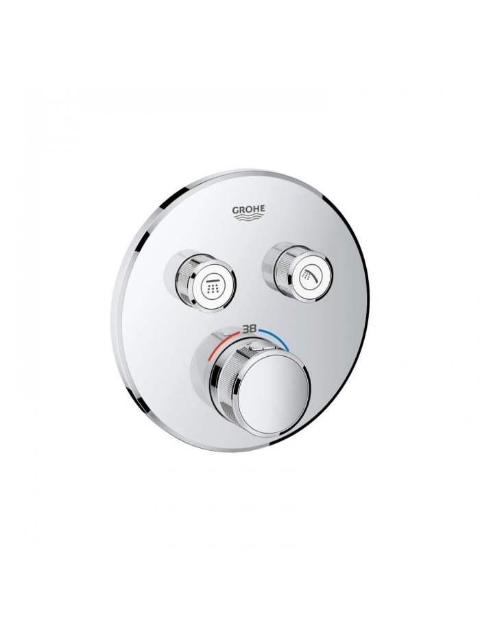 unitate de control cu termostat pentru instalare încastrată cu 2 ieșiri grohtherm smartcontrol1