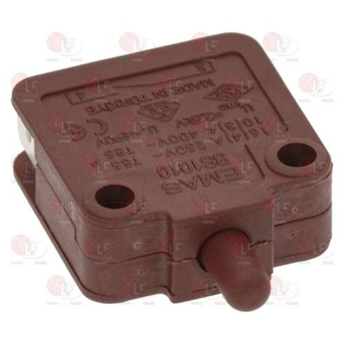 Microintrerupator cu bolț de apăsare 250V 16A 1NC racord fișă plată masculină 6,3mm