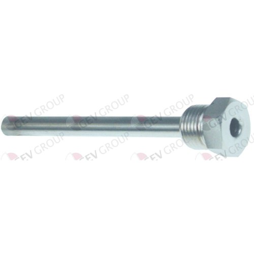 Teaca bulb termostat oțel inoxidabil 1/2″ ø orificiu senzor 8mm lungime totală 140mm