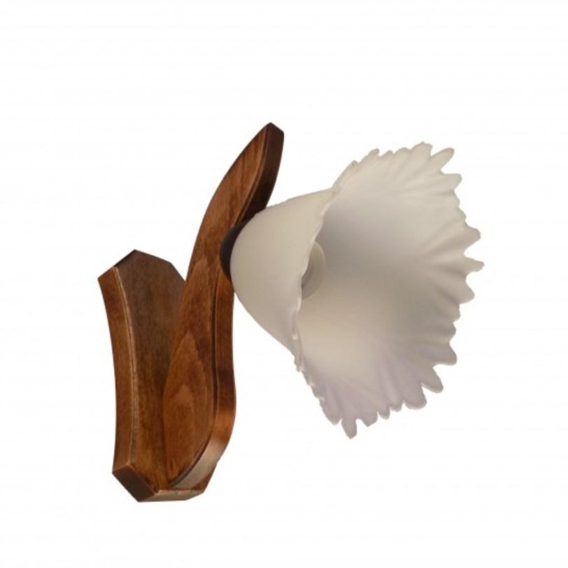 Aplica din lemn cu abajur de sticla Alexa 1 bec E27