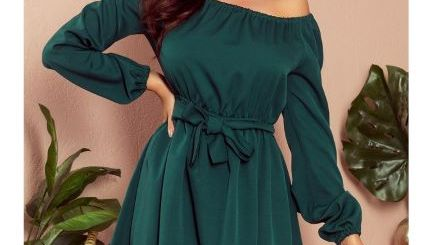 rochii de zi, rochie scurta verde.