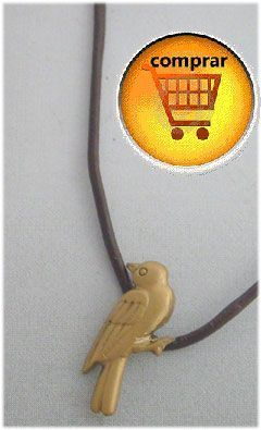 gorrión colgante de oro