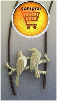 gorriones de plata colgante amuleto