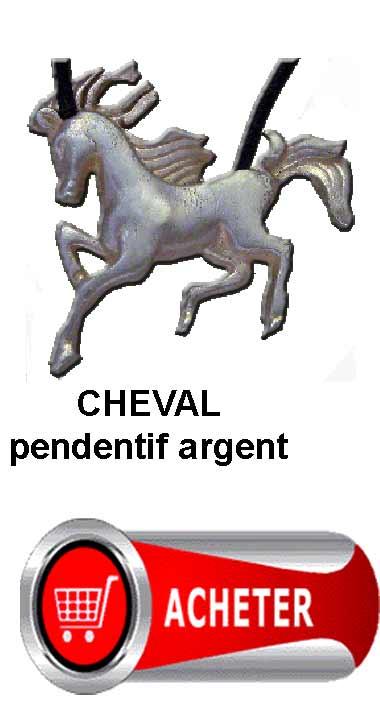 cheval pendentif argent amulette symbole signification