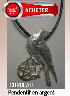 corbeau pendentif argent bijoux signification symbole