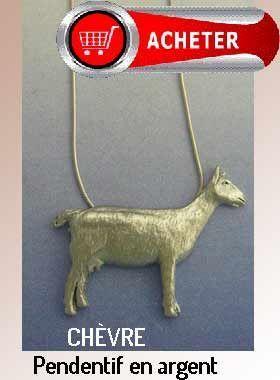 chèvre pendentif en argent bijoux signification symbole