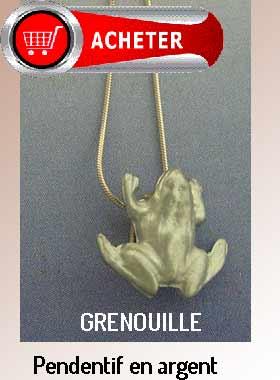 grenouille pendentif argent bijoux signification symbole
