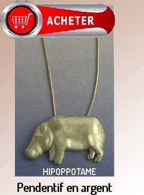 hipoppotame pendentif argent bijoux signification symbole