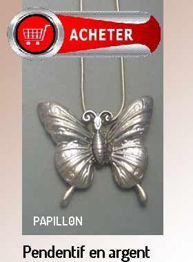 Papillon pendentif argent bijoux signification symbole