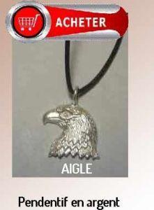 aigle pendentif argent bijoux signification