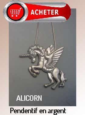 alicorn pendentif argent.cheval avec ailes et corne bijoux signification symbole