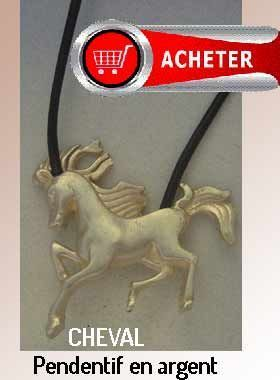 cheval pendentif argent bijoux signification symbole