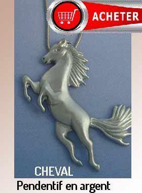 cheval pendentif bijoux argent signification symbole