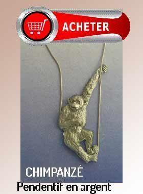 chimpanzé pendentif argent bijoux signification symbole