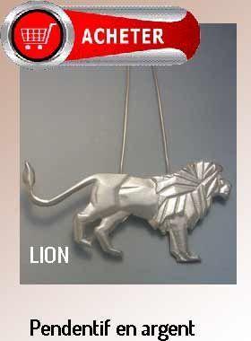 lion argent pendentif argent bijoux signification symbole