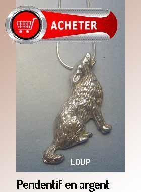 loup pendentif argent bijoux signification symbole